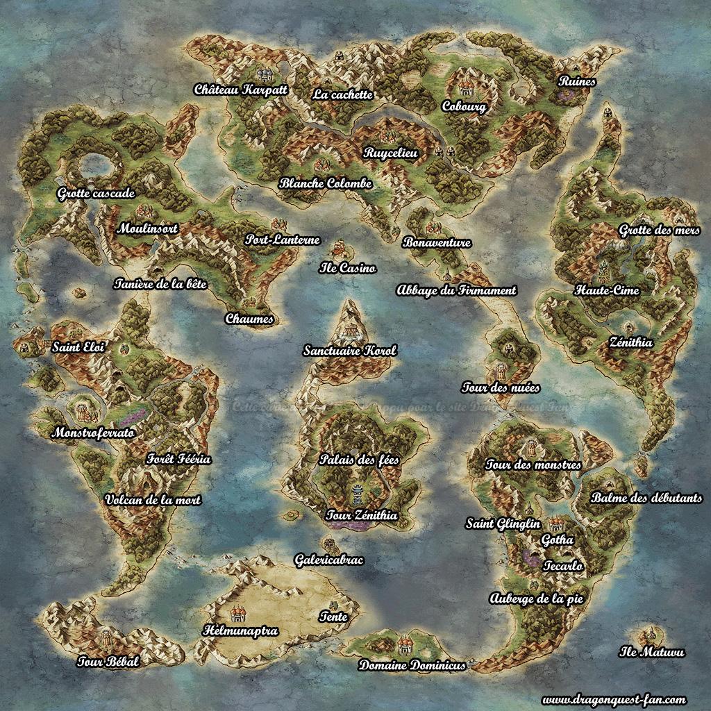 Dragon Quest Builder Carte Du Monde