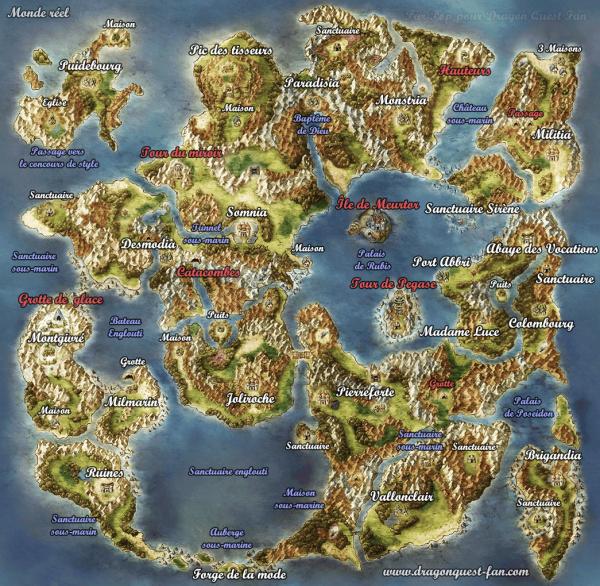 Dragon Quest Builder Carte