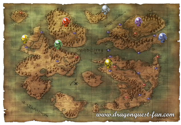 Carte Orbes Dragon Quest