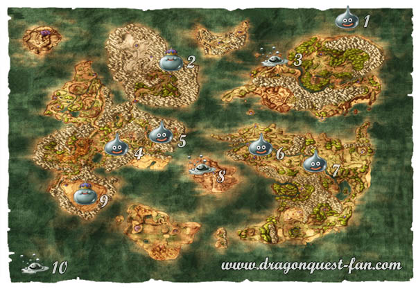 Carte Dragon Quest